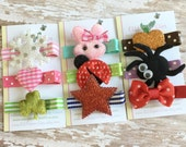 Happy Everything- Seasonal and Holiday Hair Clips (9 piece Set) - 0042 / Girls Hair Clips / Monthly Hair Clips