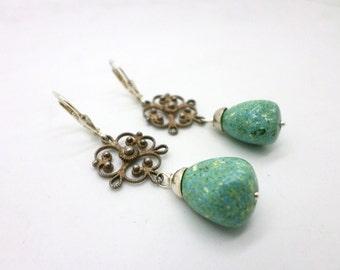 Handcrafted Earrings of Repurposed Vintage Findings