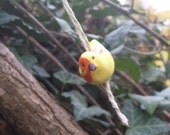 Yellow Bird Window or Wall Hanging