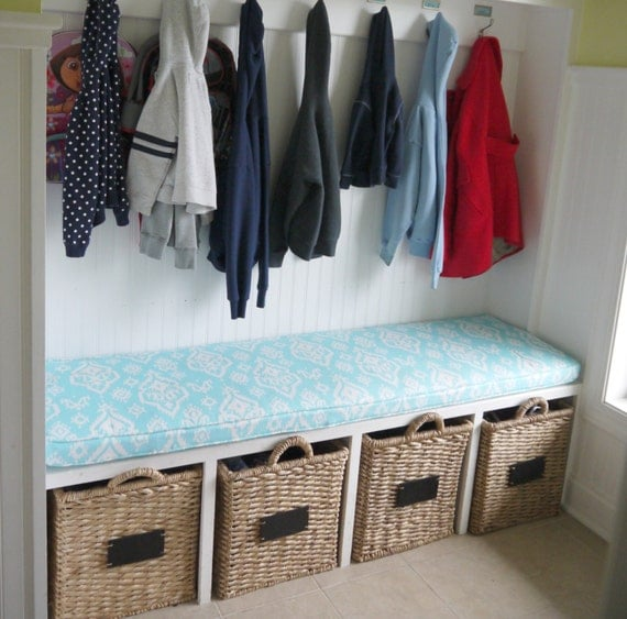 custom cushion mudroom seat bench cushion with cording