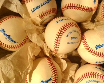 8 Vintage Little League Baseballs. MacGregor . Eight in Original Store Box.  Made in Haiti. 1980. Shipping Included.