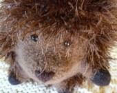 "Plush Felted Wool Hedgehog ""Wilma Copse"""