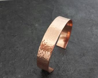 Copper Cuff Bracelet - Hammered Copper Cuff - 7th Anniversary Gift