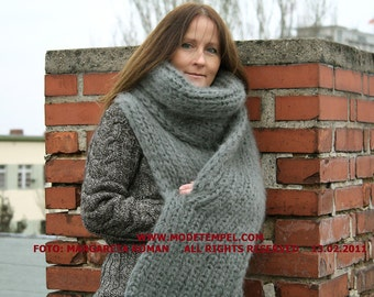 Scarf super kid mohair hand knitted FOR ORDER ONLY