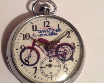 Vintage WHIZZER MOTORCYCLE Advertising dial pocket watch