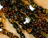 Tortoise Shell Brown 13mm Oval Glass Beads 60% off, qty 25