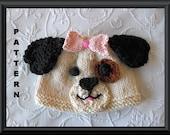 Knitted Hat Pattern Baby Hat Pattern Newborn Hat Pattern Puppy Hat Knitting Pattern Baby Dog Hat Pattern Halloween Baby Hat SEE SPOT RUN
