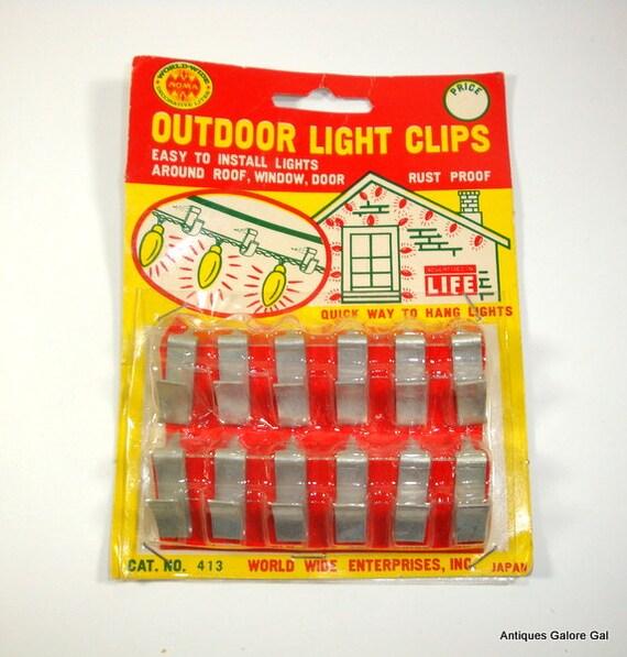 Vintage Outdoor Light Clips Metal Rustproof New Old Stock