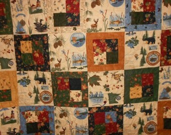 Twin Size Bed Quilt  Fall Up north 101
