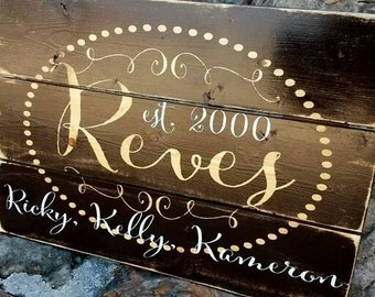 Father's Day!  Personalized barn wood name sign