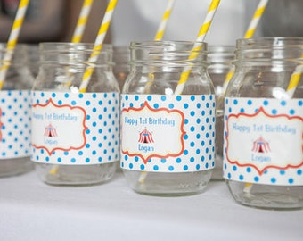 Carnival Water Bottle Labels - Carnival Birthday Decorations - Circus Birthday - Circus Party - Carnival Party - Carnival Labels