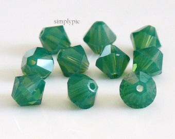 Palace Green Opal Swarovski Crystal Bicone 6mm 10 Crystal Beads