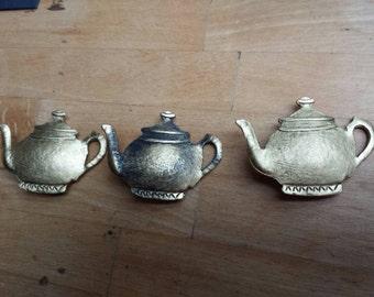 Teapot Brooch