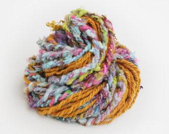 Handspun art yarn 'Magic Carpet Ride'