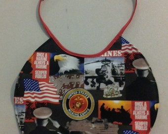 Reversible Infant Bib U. S. Marine's on one side and different U.S. Marine's on the other 243549