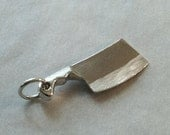 Sterling Chef Cleaver Charm, Chef Jewelry, Chef Gift, Culinary Jewelry, Knife Jewelry, Sterling Silver Charms