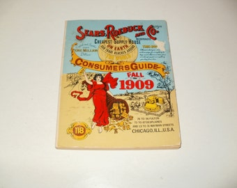 Fall 1909 Sears roebuck and Co catalogue 1979 reprint  Paper ephemera collectible art illustrated