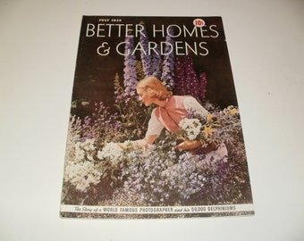 Vintage Better Homes and Gardens Magazine July 1938 - Scrapbooking, Paper Ephemera, Vintage Ads