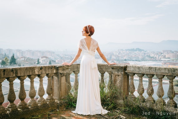 Ivory Wedding Gowns: Romantic Wedding Dress Ivory Lace Dress Bridal Gown By Mimetik