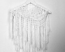 crochet beachwear  crochet pareo  summer scarf  fringed scarf Crochet Twisted Fringe Scarves For Summer