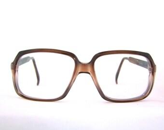 1970s Eyeglasses // 70s Vintage Frames // Aviator Model //BROWN Translucent // FRANCE