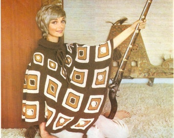 Mexican poncho knitting pattern
