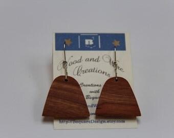 Handmade triangular Cherry earrings