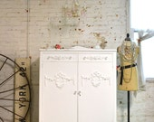 Painted Cottage Chic Shabby Romantic French Armoire AM166