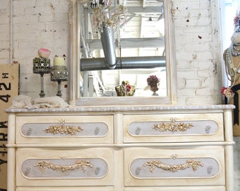 Painted Cottage Chic Shabby Romantic French Dresser SSDR15