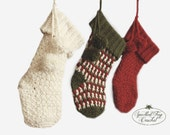 CROCHET STOCKING PATTERN Instant Download Brighton Christmas Stocking