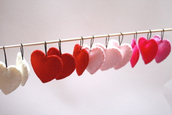 Heart Ornaments / Valentine's Day Decorations/ Heart Assortment / Set of 15