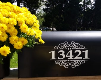 Mailbox Numbers Decal Set of 2 for both sides embellished FREE Shipping
