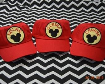 YOUTH  Baseball Mickey Hat Personalized