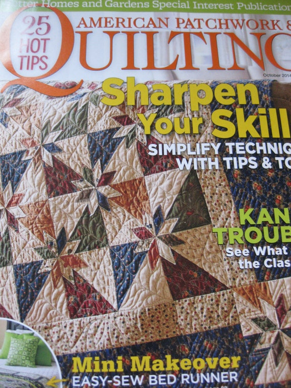American Patchwork Quilting Magazine October 2014 By