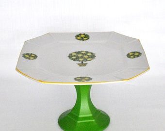 China Plate Cake Stand - Wedding Decor - Tablescape - Tea Party - Table setting - Hostess gift idea