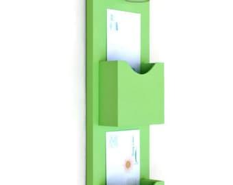 Mail Organizer - Mail Holder - Letter Holder - Mail and Key Holder - Mail Sorter -Key Hooks - Mason Jar