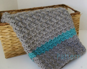 Crochet Pattern, Crochet Baby Blanket Pattern, Crochet Baby Afghan Pattern, Digital Download