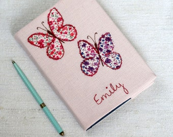 personalised butterfly notebook a6