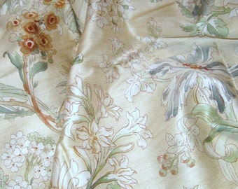 RALPH LAUREN fabric Bone Sateen Floral 400 Thread Count  Measures 45 W x 90 L 100% Egyptian Cotton