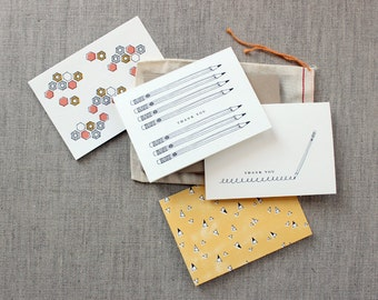 Favorite Teacher Gift: Set of 8 Assorted Notecards