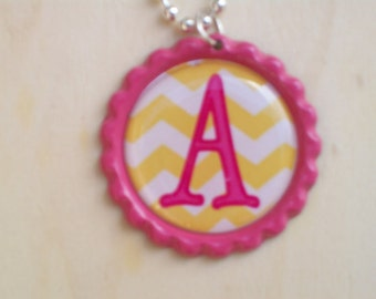 Special Order for 4 Initial bottlecap necklaces