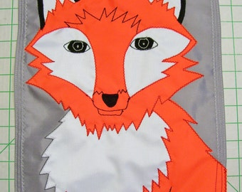 Large Red Fox Garden Flag