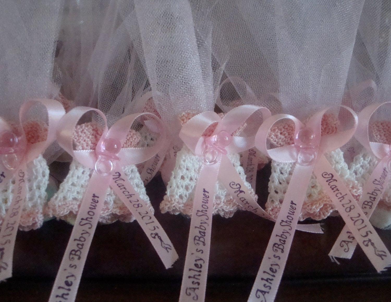 crochet baby shower dress favors