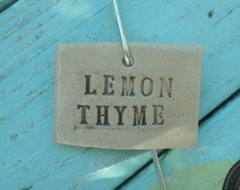 Ceramic Lemon Thyme Plant Marker