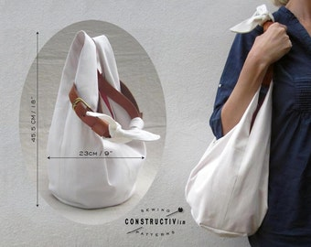 Easy Fabric Hobo Tote Bag sewing pattern