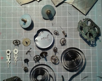 SALE Vintage Clock Parts - Steampunk Lover's Dream