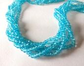 APATITE BLUE Mystic Quartz Faceted Rondelle Beads, 3.5mm (1/4 Strand), aqua apatite blue, gemstone beads, diy jewelry
