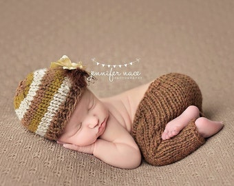 the ember // newborn pants & beanie set