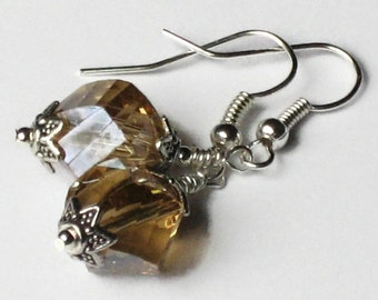 Topaz Crystal Earrings, Wedding Jewelry, Bridesmaids Gifts, Gifts for Women Mom Wife Sister Daughter Grandma Under 25, Stocking Stuffers