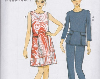 Very Easy Vogue Pattern V9092 Top, Dress and Pants Pattern Misses' Sizes 6 - 14